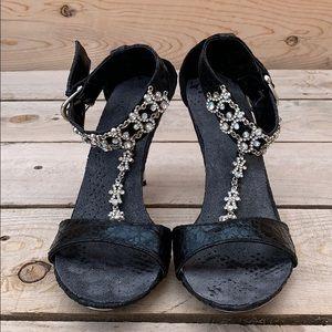 Shoes - 🆕 Bejeweled Women's Silver Heels